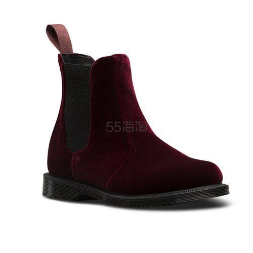 【上新】Dr. Martens 酒红色丝绒切尔西靴 £120(约1,082元) - 海淘优惠海淘折扣|55海淘网
