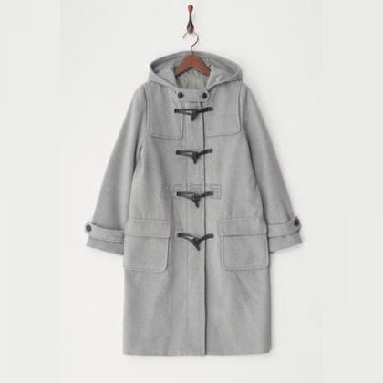 Human 2nd Occasion 羊毛混合羊角扣大衣 灰色 多尺码可选 15,700日元(约970元) - 海淘优惠海淘折扣|55海淘网