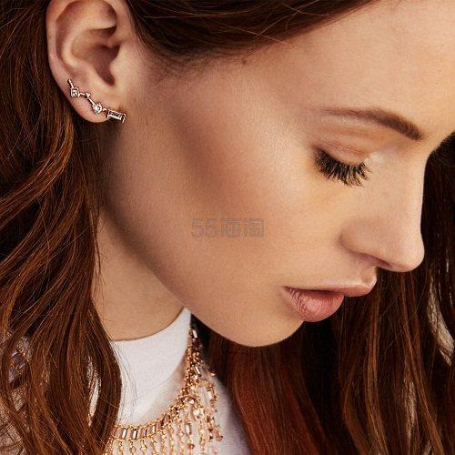 【新品】Kendra Scott 玫瑰金镶钻小心机耳环 (约557元) - 海淘优惠海淘折扣 55海淘网
