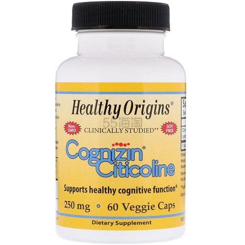Healthy Origins Cognizin 胞二磷胆碱素食胶囊 60粒 .98(约111元) - 海淘优惠海淘折扣|55海淘网