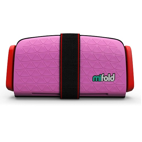 Mifold Grab-and-Go 儿童增高型便携安全座椅 玫粉色