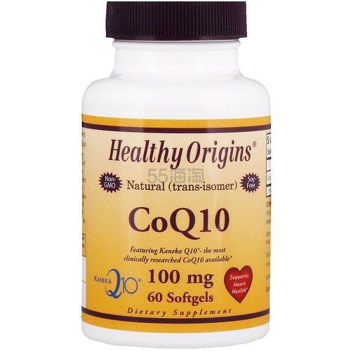 Healthy Origins 辅酶Q10软胶囊 60粒 .49(约66元) - 海淘优惠海淘折扣|55海淘网