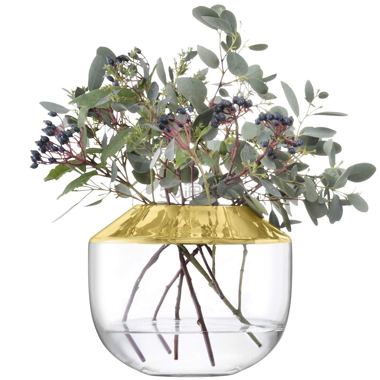 【中亚Prime会员】LSA International 玻璃插花花瓶 金色 15cm 到手价279元 - 海淘优惠海淘折扣|55海淘网
