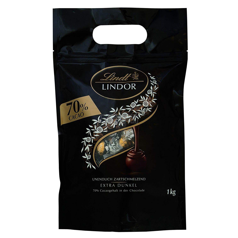 【中亚Prime会员】Lindt 瑞士莲 Lindor 软心巧克力球 70%浓黑巧克力 1kg 到手价145元 - 海淘优惠海淘折扣|55海淘网