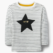 Gymboree Sunglass Star Tee 童款长袖条纹T恤