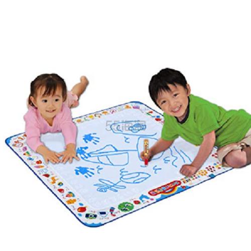 5.1折!【日本亚马逊】Pilot 儿童神奇水画布地垫 蓝色款 78x78cm