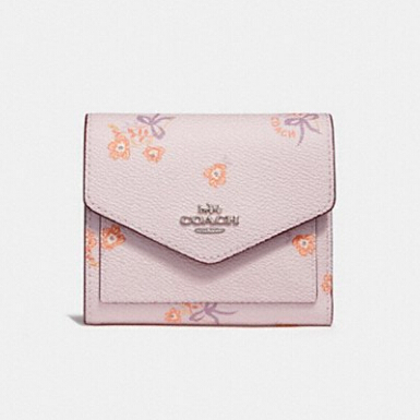 Coach Small Wallet With Cross Stitch Floral Print 印花小钱包