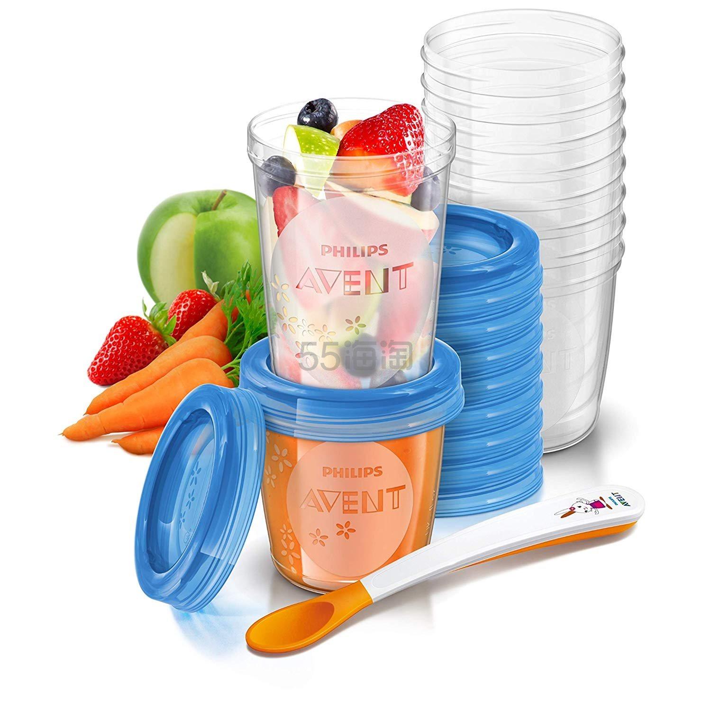 【中亚Prime会员】Philips Avent 飞利浦新安怡 SCF721/20 婴儿食物储存罐 20个杯子+1个勺子套装 到手价132元 - 海淘优惠海淘折扣 55海淘网