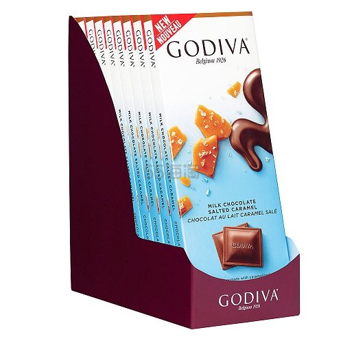 Godiva 歌帝梵 焦糖海盐牛奶巧克力 90g*10排 .49(约176元) - 海淘优惠海淘折扣|55海淘网
