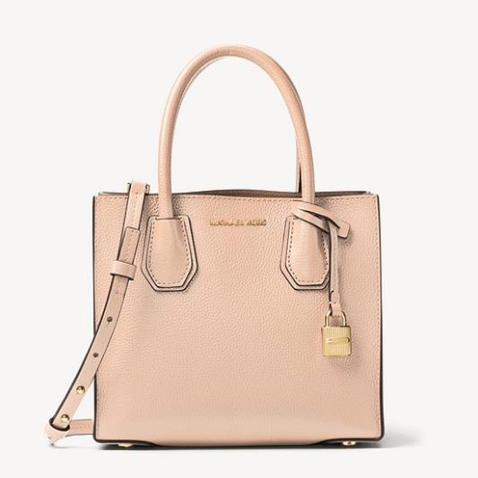 4折!Michael Kors Mercer 斜挎包 粉色 中号