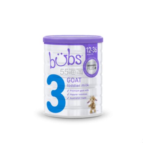 【补货】Bubs 贝儿 婴幼儿羊奶粉 3段 800g 34.95澳币(约167元) - 海淘优惠海淘折扣|55海淘网