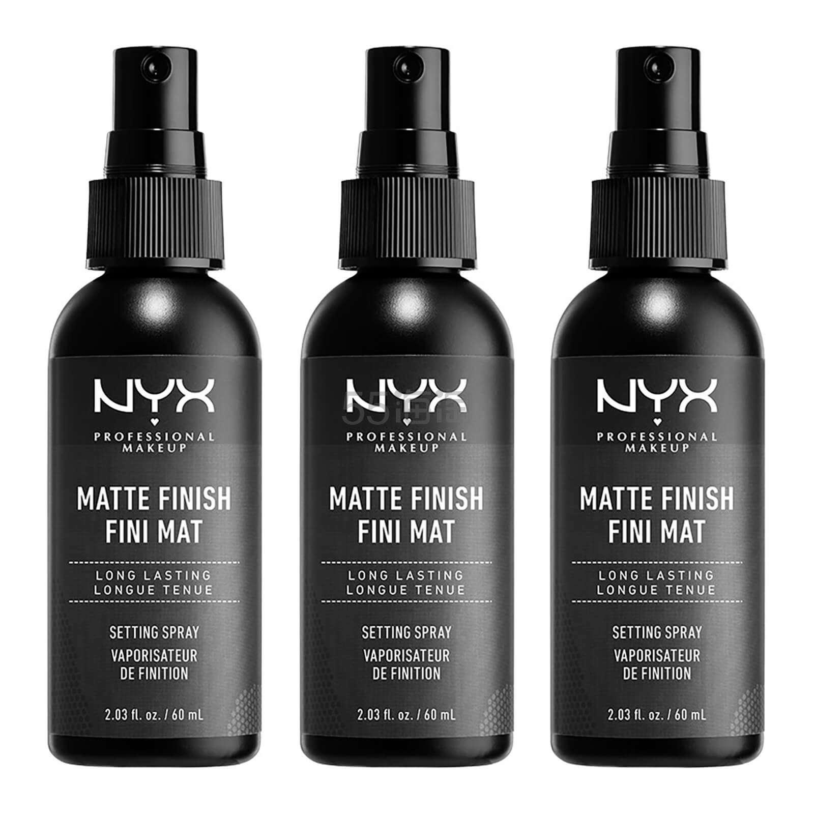 NYX 哑光定妆喷雾 60ml×3瓶 £14.45(约123元) - 海淘优惠海淘折扣|55海淘网