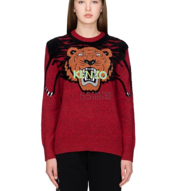 Kenzo Oversize 虎头红色毛衣 8.29(约2,489元) - 海淘优惠海淘折扣|55海淘网