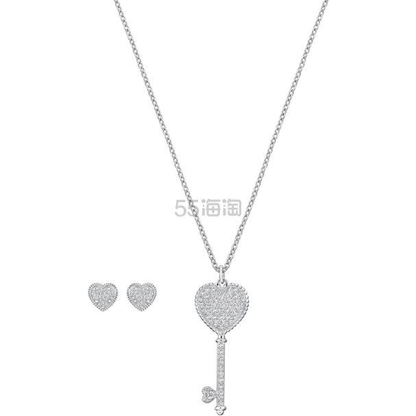 Swarovski Engaged 钥匙系列项链耳钉套组 .5(约622元) - 海淘优惠海淘折扣|55海淘网