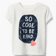 Gymboree Cool & Kind Tee 童款白色T恤衫