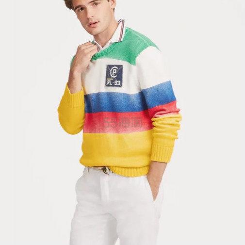 【PO 同系列】POLO RALPH LAUREN CP-93 条纹毛衣 9.99(约1,028元) - 海淘优惠海淘折扣|55海淘网