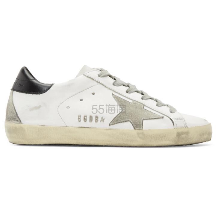 Golden Goose Superstar Sneakers 女士经典款黑尾小白鞋 港币2,262(约1,991元) - 海淘优惠海淘折扣|55海淘网