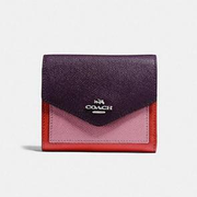 Coach Small Wallet In Colorblock 拼色小钱包