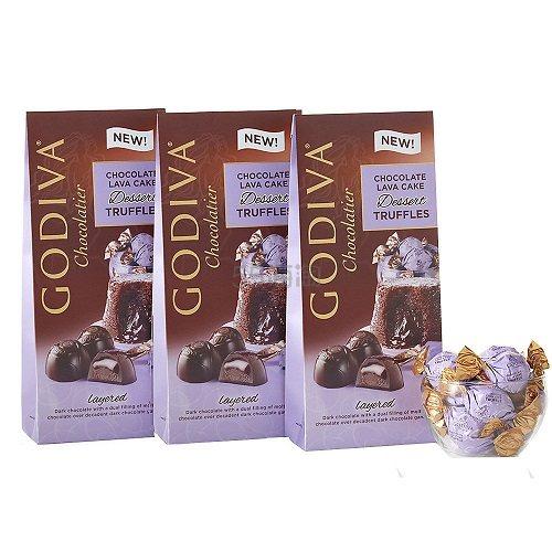 7.3折!Godiva 歌帝梵 岩浆蛋糕夹心松露巧克力 19颗*3 (约180元) - 海淘优惠海淘折扣 55海淘网