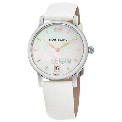 Montblanc 万宝龙 Star 系列 珍珠母贝白色圆盘女士优雅腕表 108765 ,030(约13,999元) - 海淘优惠海淘折扣|55海淘网
