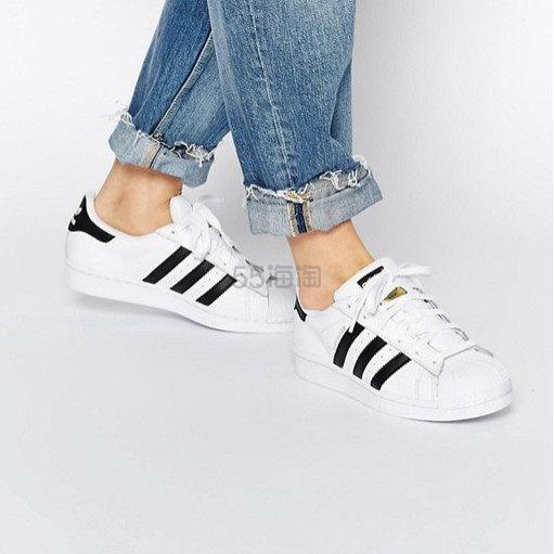 【中亚Prime会员】adidas Originals 三叶草 Superstar 大童款金标贝壳头运动鞋 230mm 到手价391元 - 海淘优惠海淘折扣 55海淘网