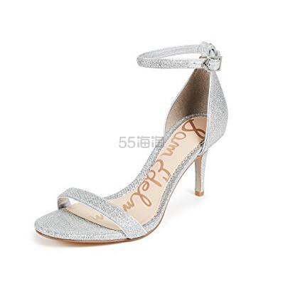 Sam Edelman Patti Sandals 女士银色凉鞋 (约343元) - 海淘优惠海淘折扣|55海淘网