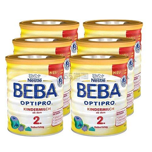 【中亚Prime会员】Nestle 雀巢 Beba 贝巴 Optipro 超级能恩婴幼儿奶粉 2+段 800g*6罐 到手价648元 - 海淘优惠海淘折扣|55海淘网