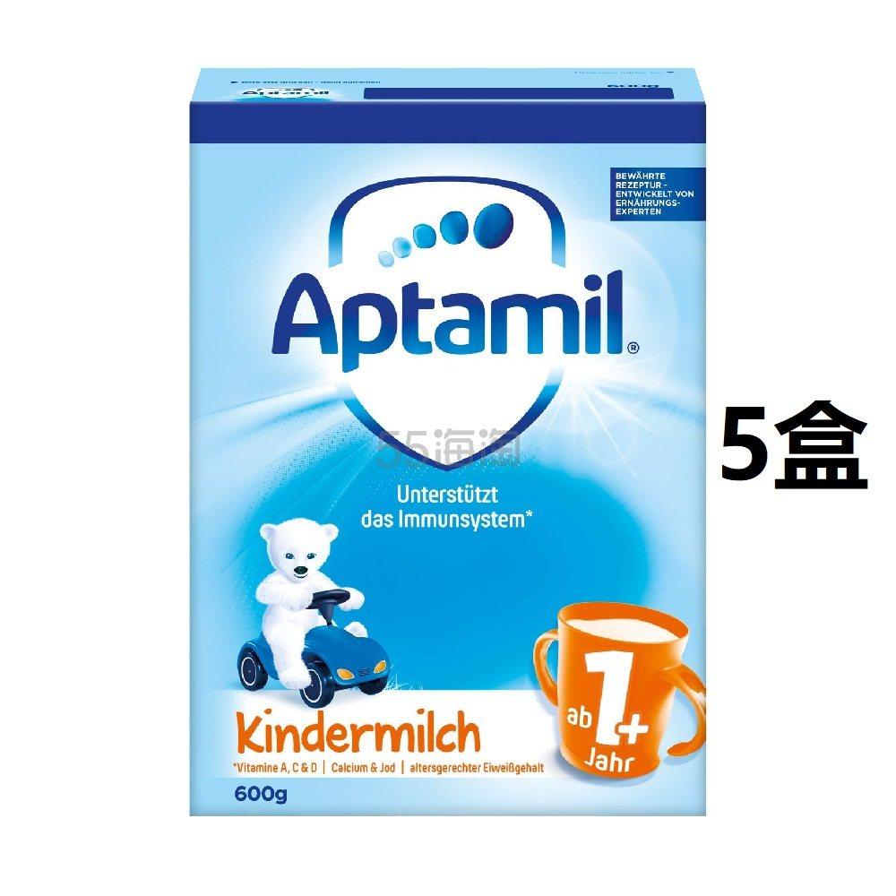 史低价!【中亚Prime会员】Aptamil 爱他美 蓝盒幼儿奶粉1+段 600g*5盒装 到手价362元 - 海淘优惠海淘折扣|55海淘网