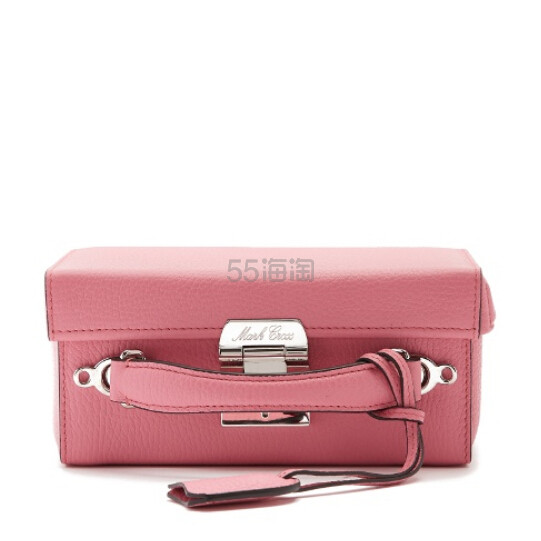 MARK CROSS Grace small grained-leather shoulder bag 粉色真皮包包