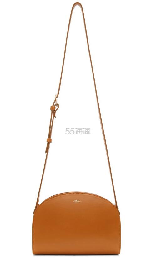 A.P.C. Tan Half Moon Bag 真皮半月包包