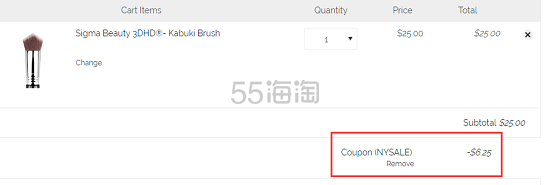 7.5折!Sigma 3DHD® Kabuki 粉底刷打造无暇底妆无刷痕