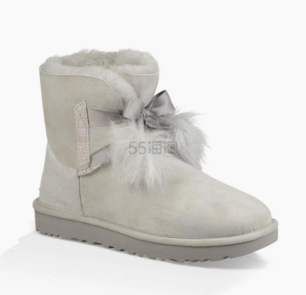 补货 满额包邮!UGG Australia GITA 17年冬季新款毛毛球雪地靴