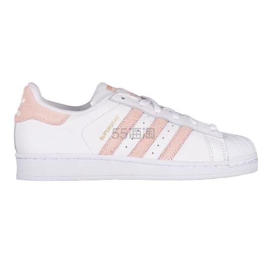 """快来凑单买呀! Adidas Originals 三叶草""""superstar"""" 大童款运动鞋 粉色金标"""