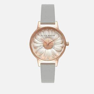 补货+8折!Olivia Burton 2017新款小雏菊浮雕女士手表