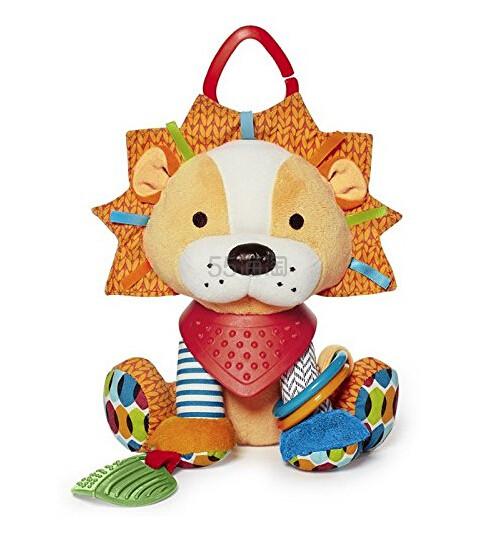 【中亚Prime会员】Skip Hop 动物园系列 玩偶围巾小伙伴 磨牙牙胶玩具 狮子款