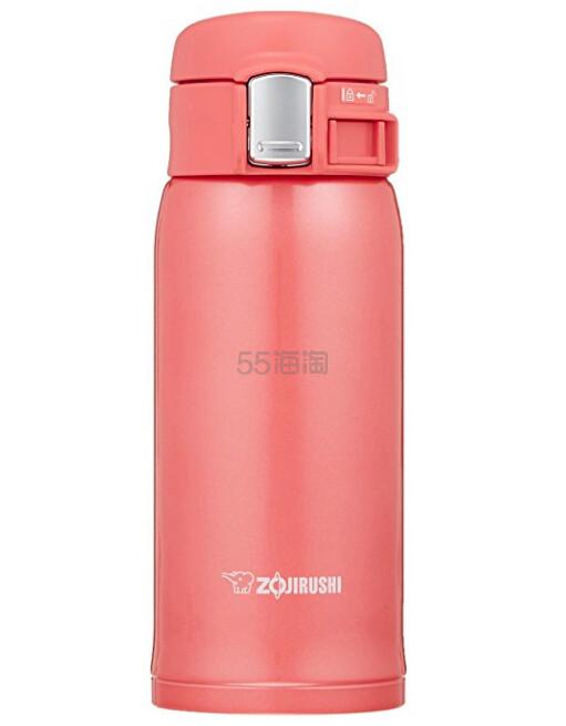 【中亚Prime会员】Zojirushi 象印 轻量不锈钢保温杯 360ml 珊瑚粉色 SM-SC36-PV