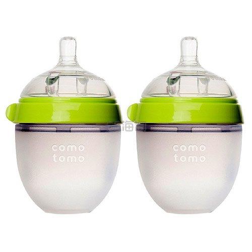 【高返】Comotomo 可么多么 婴儿硅胶奶瓶 绿色 150ml*2只