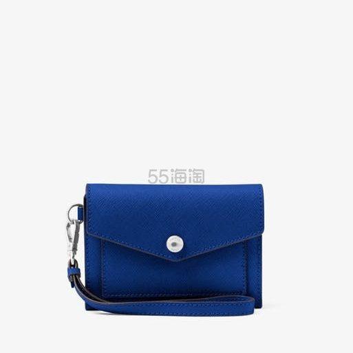 【最高返12%】蓝色补货一只!Michael Kors Honey 十字纹真皮手腕包