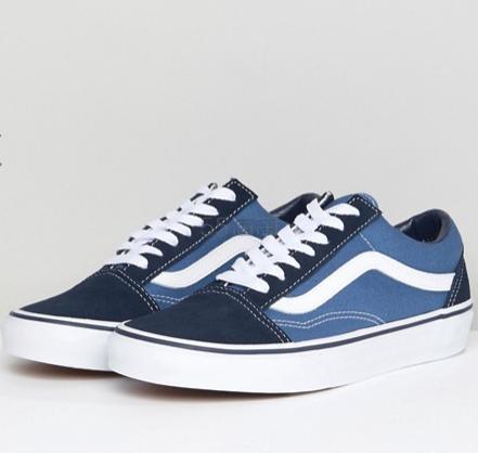 Vans 范斯 Classic Old Skool 蓝色运动鞋