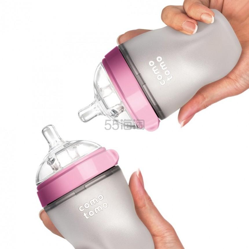 【中亚Prime会员】Comotomo 可么多么 硅胶奶瓶 227g*4只装 粉色+绿色
