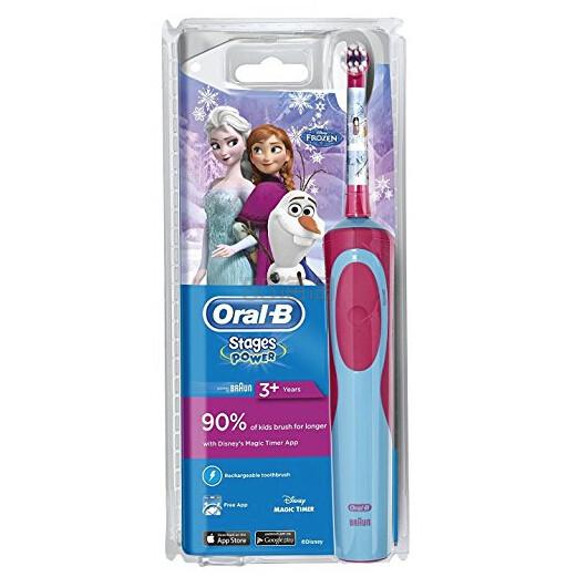 【中亚Prime会员】Oral-B 欧乐B Stages Vitality 儿童电动充电牙刷 冰雪奇缘款