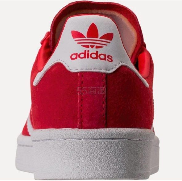 【大码福利】adidas Originals 三叶草 Campus 系列 经典款女士板鞋 红色 .98(约235元) - 海淘优惠海淘折扣|55海淘网