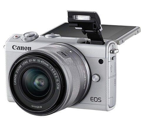 轻巧便携高颜值!【中亚Prime会员】Canon 佳能 EOS M10 白色微单双头套机(15-45mm+55-200mm) 到手价3376元 - 海淘优惠海淘折扣|55海淘网