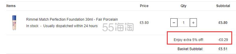 Lookfantastic:Rimmel 芮谜 平价彩妆产品 7折+额外9.5折! - 海淘优惠海淘折扣 55海淘网