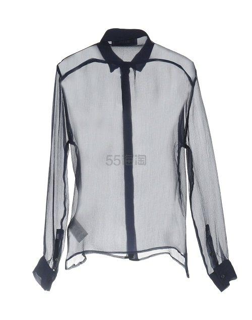 【时尚百搭】MSGM 藏青色真丝衬衫 ¥1,262 - 海淘优惠海淘折扣|55海淘网