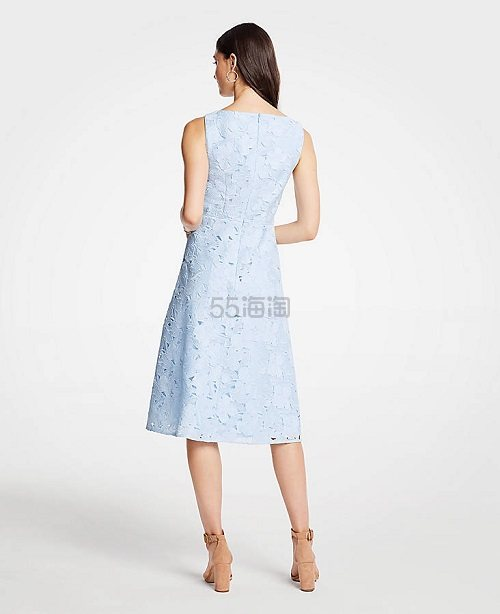 Ann Taylor 蓝色蕾丝连衣裙 .79(约585元) - 海淘优惠海淘折扣|55海淘网