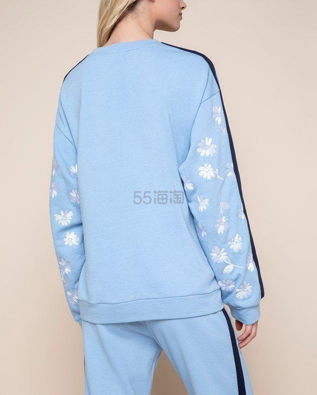 【折扣区新品】Juicy Couture 蓝色印花装饰天鹅绒卫衣