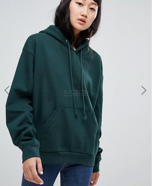 瑞典平价街头品牌 Weekday 墨绿色卫衣 (约278元) - 海淘优惠海淘折扣|55海淘网