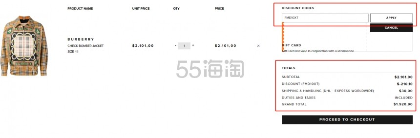 BURBERRY CHECK 巴宝莉经典图案飞行夹克 ,890.9(约13,128元) - 海淘优惠海淘折扣|55海淘网