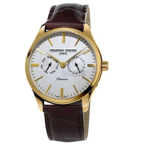 Frederique Constant 康斯登 Classics Quartz 系列 金色圆形表盘男士经典腕表 9(约2,074元) - 海淘优惠海淘折扣 55海淘网
